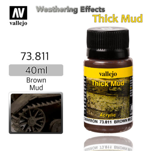 Vallejo 73811 Brown Thick Mud Weathering Effects