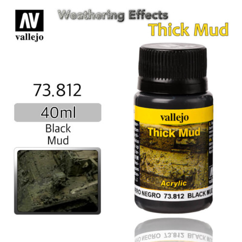 Vallejo 73812 Black Thick Mud Weathering Effects