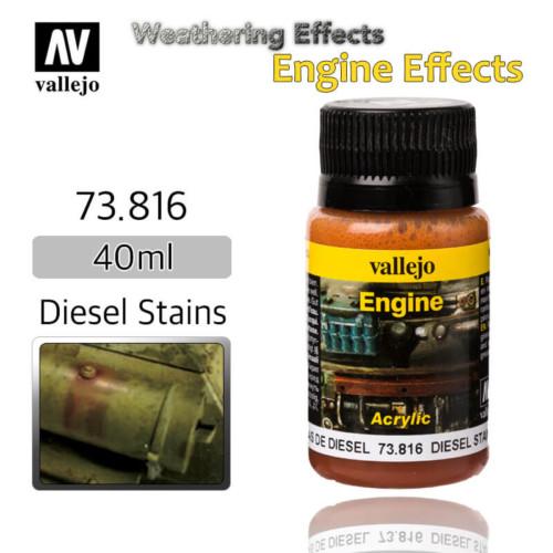 Vallejo 73816 Diesel Stains Engine Weathering Effects