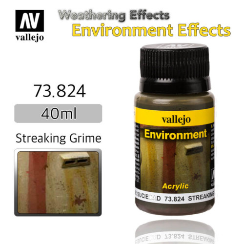 Vallejo 73824 Streaking Grime Environment Weathering Effects