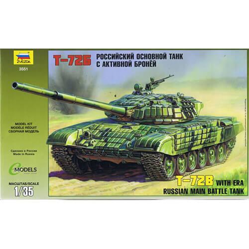 ZVEZDA 3551 1/35 RUSSIAN BATTLE TANK T-72B WITH ERA