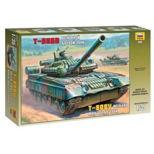 ZVEZDA 3592 1/35 RUSSIAN BATTLE TANK T-80BV WITH ERA