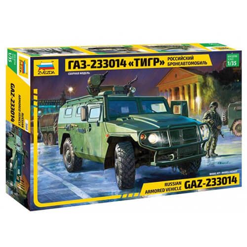 """ZVEZDA 3668 1/35 RUSSIAN ARMORED VEHICLE """"TIGER"""""""