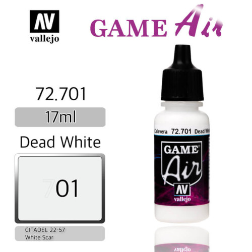 VALLEJO GAME AIR 72.701 DEAD WHITE