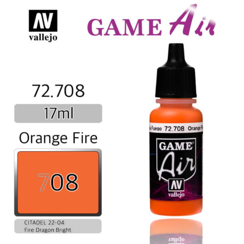 VALLEJO GAME AIR 72.708 ORANGE FIRE