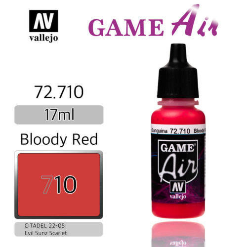 VALLEJO GAME AIR 72.710 BLOODY RED