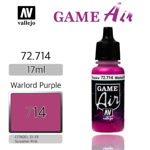 VALLEJO GAME AIR 72.714 WARLORD PURPLE