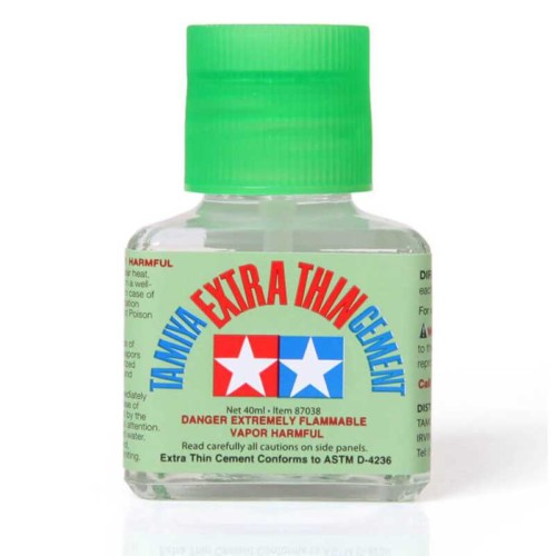 Tamiya 40ml Extra Thin Liquid Glue Cement (87038)